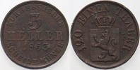 3 Heller 1853 Hessen-Kassel Friedrich Wilhelm I. 1847-1866. Belag, sehr... 8,00 EUR  zzgl. 3,00 EUR Versand