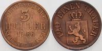 3 Heller 1866 Hessen-Kassel Friedrich Wilhelm I. 1847-1866. Fast sehr s... 5,00 EUR  zzgl. 3,00 EUR Versand