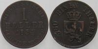 1 Heller 1854 Hessen-Kassel Friedrich Wilhelm I. 1847-1866. Sehr schön  5,00 EUR  zzgl. 3,00 EUR Versand