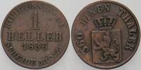 1 Heller 1856 Hessen-Kassel Friedrich Wilhelm I. 1847-1866. Sehr schön  5,00 EUR  zzgl. 3,00 EUR Versand