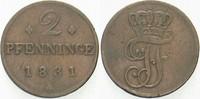 2 Pfennige 1831 Mecklenburg-Schwerin Friedrich Franz I. 1785-1837. Fast... 10,00 EUR  zzgl. 3,00 EUR Versand