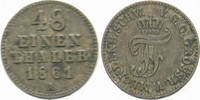 1/48 Taler 1861 A Mecklenburg-Schwerin Friedrich Franz II. 1842-1883. S... 5,00 EUR  zzgl. 3,00 EUR Versand