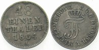 1/48 Taler 1864 A Mecklenburg-Schwerin Friedrich Franz II. 1842-1883. S... 4,00 EUR  zzgl. 3,00 EUR Versand