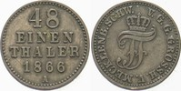 1/48 Taler 1866 A Mecklenburg-Schwerin Friedrich Franz II. 1842-1883. S... 5,00 EUR  zzgl. 3,00 EUR Versand
