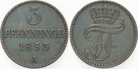 3 Pfennige 1853 A Mecklenburg-Schwerin Friedrich Franz II. 1842-1883. S... 4,00 EUR  zzgl. 3,00 EUR Versand