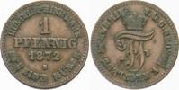 Pfennig 1872 B Mecklenburg-Schwerin Friedrich Franz II. 1842-1883. Sehr... 5,00 EUR  zzgl. 3,00 EUR Versand