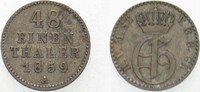 1/48 Taler 1859 A Mecklenburg-Strelitz Georg 1816-1860. Patina, sehr sc... 15,00 EUR  zzgl. 3,00 EUR Versand