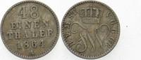 1/48 Taler 1864 A Mecklenburg-Strelitz Friedrich Wilhelm 1860-1904. Seh... 10,00 EUR  zzgl. 3,00 EUR Versand