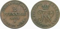 2 Pfennige 1872 B Mecklenburg-Strelitz Friedrich Wilhelm 1860-1904. Seh... 15,00 EUR  zzgl. 3,00 EUR Versand
