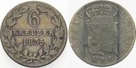6 Kreuzer 1835 Nassau Wilhelm 1816-1839. Fast sehr schön  10,00 EUR  zzgl. 3,00 EUR Versand