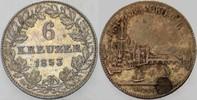 6 Kreuzer 1853 Frankfurt  Fleckig, sehr schön - vorzüglich  25,00 EUR  zzgl. 5,00 EUR Versand