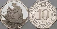 Silberabschlag zu 10 Pfennig 1917 Bielefel...
