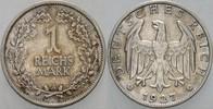 1 Reichsmark 1927 A   Patina, sehr schön -...