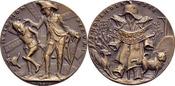 Bronzegussmedaille 1918 Goetz-Medaillen Fl...