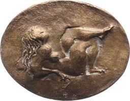 Einseitige Bronzegussmedaille  Kunstmedaillen Dobberkau, Heide Vorzüglich