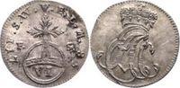 Sachsen-Weimar-Eisenach 6 Pfennig 1758 Vorzüglich - Stempelglanz Ernst A... 85,00 EUR  zzgl. 5,00 EUR Versand