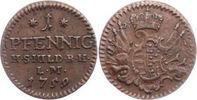 Sachsen-Hildburghausen Cu Pfennig 1759 Sehr schön - vorzüglich Ernst Fri... 85,00 EUR  zzgl. 5,00 EUR Versand