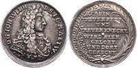Sachsen-Eisenach Silbermedaille 1699 Selten. Schöne Patina. Kl. Kratzer,... 245,00 EUR  zzgl. 5,00 EUR Versand