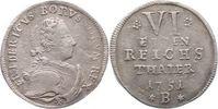 1/6 Taler 1751  B Brandenburg-Preußen Friedrich II. 1740-1786. Gereinig... 80,00 EUR  zzgl. 5,00 EUR Versand