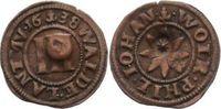 Cu 3 Pfennig 1638 Waldeck Wolrad VI., Philipp und Johann 1638-1640. Seh... 90,00 EUR  zzgl. 5,00 EUR Versand