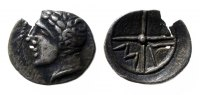 ANCIENT COINS -  Obol GALLIEN - MASSALIA