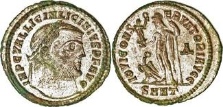 313  Licinius I AE Follis 313 AD. Heracle...