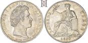 Geschichtstaler 1830 Bayern Ludwig I. 1825-1848. Feine Tönung, min. RF, vorzüglich-Stempelglanz