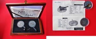 Satz, 2 Münzen 2004 Kongo & Liberia Zeit i...