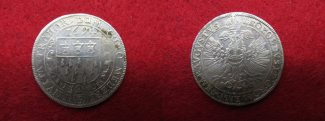 Kln 2/3 Taler Gulden 1694 ss, leicht korr...