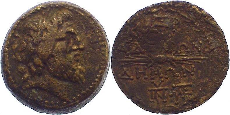 Bronze Seleukis und Pieria leicht korrodiert, sehr schön