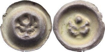 Hohlpfennig Mecklenburg Anonym. 13./14. Jahrhundert.. kleiner Randabbruch, sehr schön +