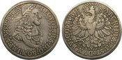 Doppeltaler 1657-1705 Haus Habsburg Leopold I. 1657-1705. sehr schön