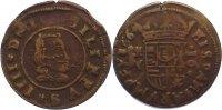 Cu 16 Maravedis 1664 Spanien Philipp IV. 1621-1665. sehr schön  20,00 EUR