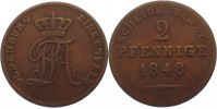Oldenburg Cu 2 Pfennig 184...