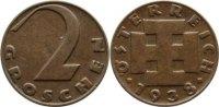 2 Groschen 1938 Österreich von - Erste Republik 1918-1938. sehr schön +  10,00 EUR  zzgl. 1,00 EUR Versand
