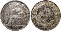 20 Centimes 1900  A Französisch Indochina  fleckige Patina, sehr schön  40,00 EUR  zzgl. 3,50 EUR Versand