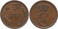 Cu 1 Öre 1 1887  CS Dänemark Christian IX. 1863-1906. sehr schön  15,00 EUR  zzgl. 1,00 EUR Versand