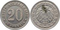 20 Pfennig 1892  E Kleinmünzen  Fleck, vorzüglich  130,00 EUR  zzgl. 3,50 EUR Versand