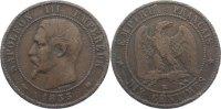 Cu 10 Centimes 1855  K Frankreich Napoleon III. 1852-1870. fast sehr sc... 30,00 EUR  zzgl. 3,50 EUR Versand