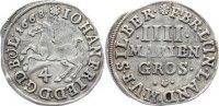 4 Mariengroschen 1668 Braunschweig-Calenberg-Hannover, ab 1692 Kftm. Ha... 30,00 EUR  zzgl. 3,50 EUR Versand
