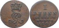 Cu Pfennig 1801  C Braunschweig-Calenberg-Hannover, ab 1692 Kftm. Han G... 20,00 EUR  zzgl. 3,50 EUR Versand