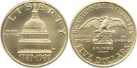 USA 5 Dollar 1989 Gold, Stempelglanz