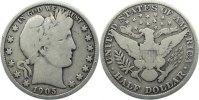 Half Dollar 1905 USA  schön +  55,00 EUR  zzgl. 3,50 EUR Versand