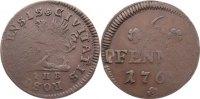 Cu 6 Pfennig 1762 Mecklenburg-Rostock, Stadt  sehr selten, Prägeschwäch... 125,00 EUR  +  4,50 EUR shipping