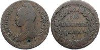 Cu Un Decime AN 8 G Frankreich Erste Republik 1793-1799. selten, Schröt... 185,00 EUR  +  4,50 EUR shipping