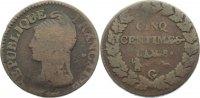 Cu 5 Centimes AN 8 G Frankreich Erste Republik 1793-1799. schön  75,00 EUR  +  4,50 EUR shipping