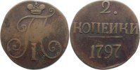 Cu 2 Kopeken 1797 Russland Paul I. 1796-1801. selten, schön - sehr schö... 200,00 EUR  +  4,50 EUR shipping