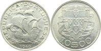 10 Escudos 1948 Portugal Republik seit 1910. vorzüglich +  125,00 EUR  +  4,50 EUR shipping