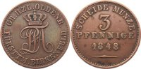 Oldenburg Cu 3 Pfennig 184...
