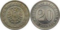 20 Pfennig 1887  F Kleinmünzen  fast Stempelglanz  175,00 EUR  +  4,50 EUR shipping